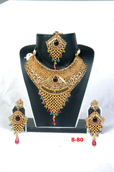 Heavy Rajwadi Necklace Set