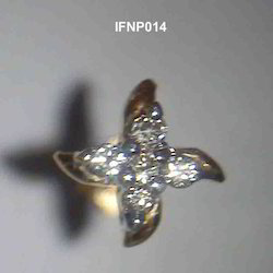diamond stud silver nose pin