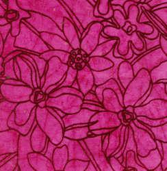 Pink Batik Handmade Paper With Flocked Print