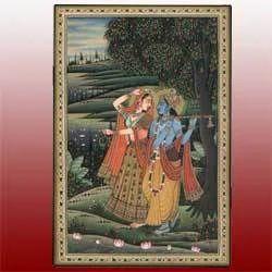 Radhe Krishna Miniature Painting