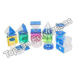 3D Solids Set 5CM, Transparent 17 PCS