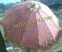 Wedding Heavy Embrodried Pink Umbrella