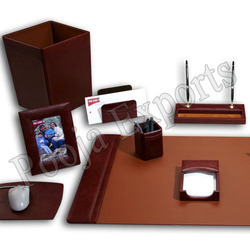 Leather Desk Top Set (Product Code: D3041)
