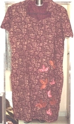 Maroon Cotton Kurti With Patchwork