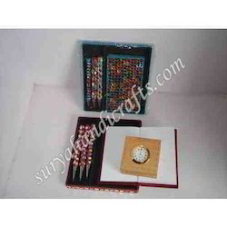 Hand Made Chamki Dairy and Lac Pen Set