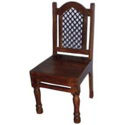 Wooden Mesh Back Chair