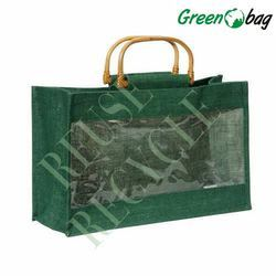 Horizantal Jute Bottle Bag