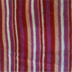 knitted yarn dyed velour fabric