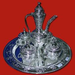 Silver Tea Set Decor