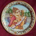 Marble Plate/ Ganpati Painting