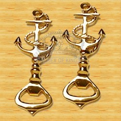 Brass Anchor Bottle Opener Key Chain