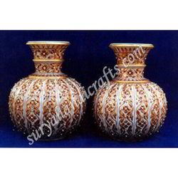 Marble Vases With Painting
