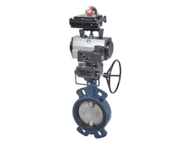 butterfly valve with pneumatic