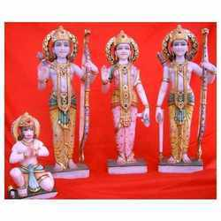 Marble Ram Darbar Family Statue