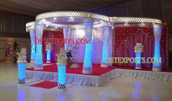 Stylish Wedding Crystal Mandap Set