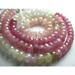 Micro Faceted Pink Sapphire Large Faceted Rondelles