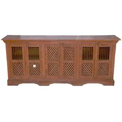 SideBoard with 3 Wooden Mesh & Iron Rod Door