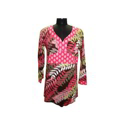 Full Sleeves Pink Short Kurta
