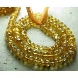 Very Finest - Citrin Faceted Rondelles