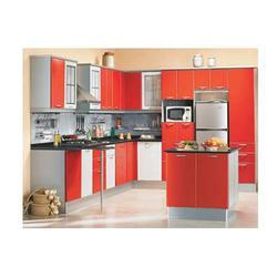 Modular Kitchens - Kitchen Concepts Metal Parallel Blue, Kitchen