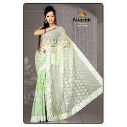 Light Green Net Saree
