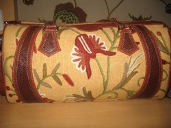 Crewel Handbag Marigold Goldenferns Cotton