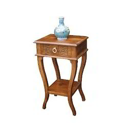 1 Drawer Stool with Curve Shaped Legs & Bottom Stand