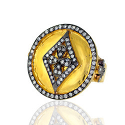 Pave diamond Gold Ring Jewelry