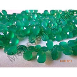 Green Onyx Pears Briolettes