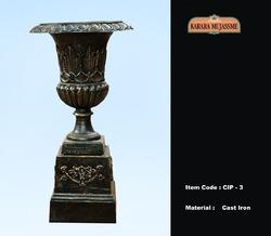 Vintage Cast Iron Pedestal & Planter