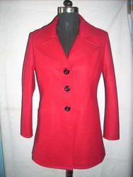 Red Ladies Wool Coat