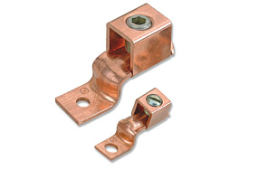 Copper One Hole Offset Tongue Terminal Ends / Connectors