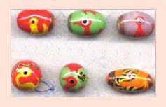 Multi-colored Lampwork Beads