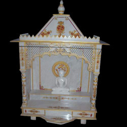 Meenakari Work Gold Marble Painted Temple