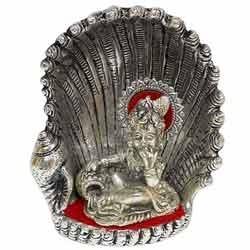 White Metal Seep Laddu Gopal Ji
