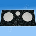 grey marble cooktop