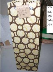 Eco Friendly Wine Bottle Bags With Flock Printing