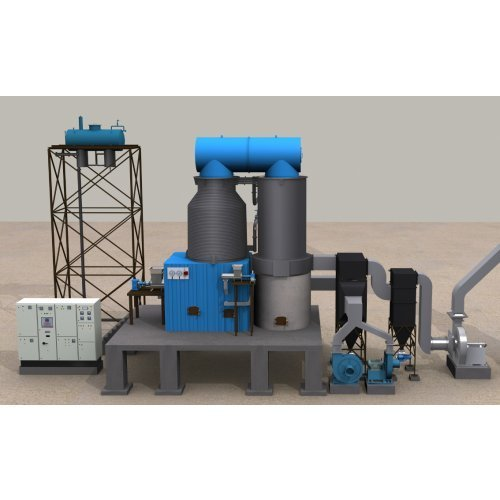 Vertical Four Pass Thermic Fluid Heater
