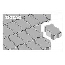 zig zag concrete paver block