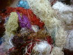 Sari Silk Fibers In Multicolors