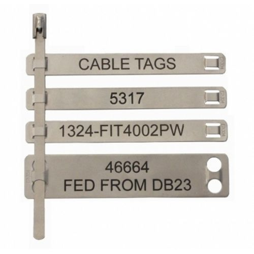 Cable Identification Tags : Stainless steel cable tag metal kripson electricals
