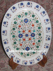 Marble Inlaid Plate