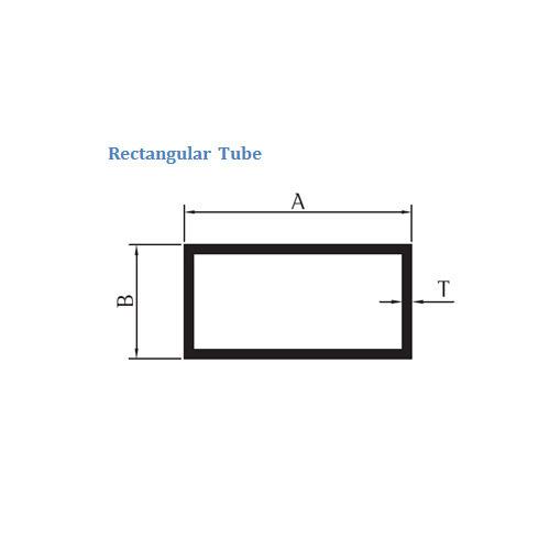 Aluminium Rectangular Tube
