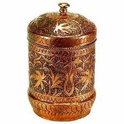 Copper Box Carved