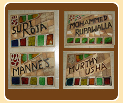 Ceramic hand made tiles mural name plate manufacturer for Mural name plate designs