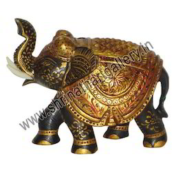 Indian Wooden Painted Elephant