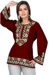 Kurti+With+Embroidery
