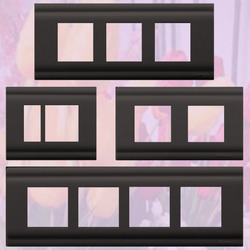 Front Frames Clipped with Base Plate (Silver Tone Black)