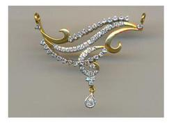 Avsar Real Gold and Diamond Beautiful Fashion Mangalsutra