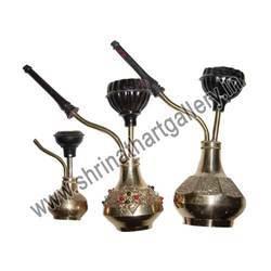 indian brass handicraft hookah